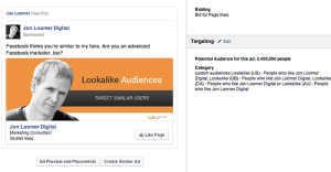 Facebook Page Like Campaign Page Lookalike Audience