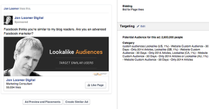 Facebook Page Like Campaign Website Visitors Lookalike Audience