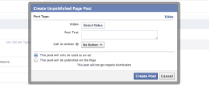 Facebook Power Editor Unpublished Video Post