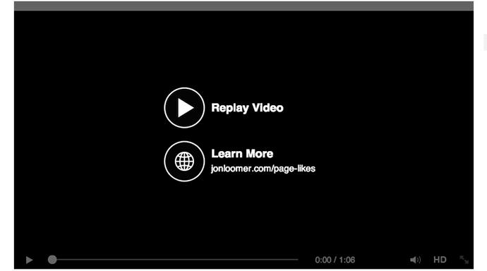 Facebook Video Call to Action Button Example