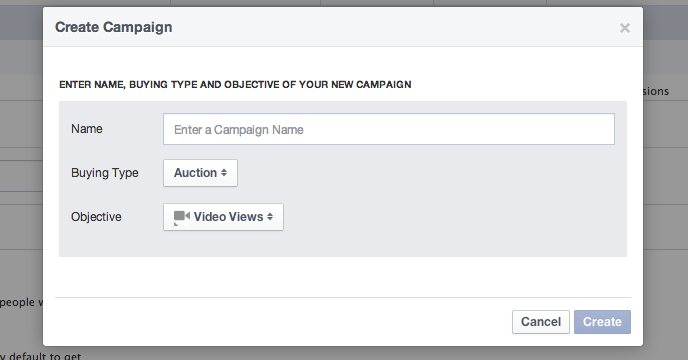 Video Views Object Facebook Power Editor