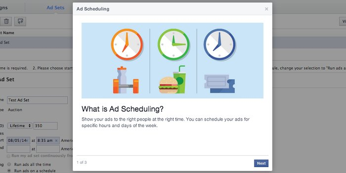 Facebook Ad Scheduling
