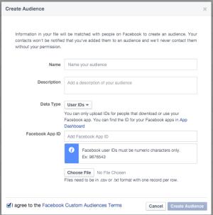 Create Facebook Custom Audience UID