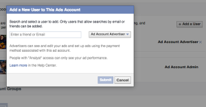 Facebook Ads Manager Add Account User
