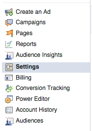 Facebook Ads Manager Settings