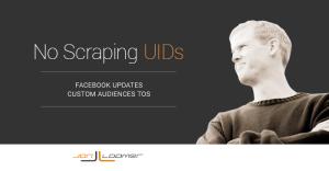 Facebook Custom Audiences TOS Scraping UIDs