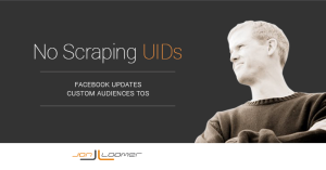Facebook Custom Audiences TOS Scraping UIDs