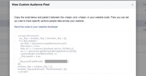 Facebook Website Custom Audience Pixel