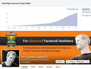 Jon Loomer Facebook Page Growth