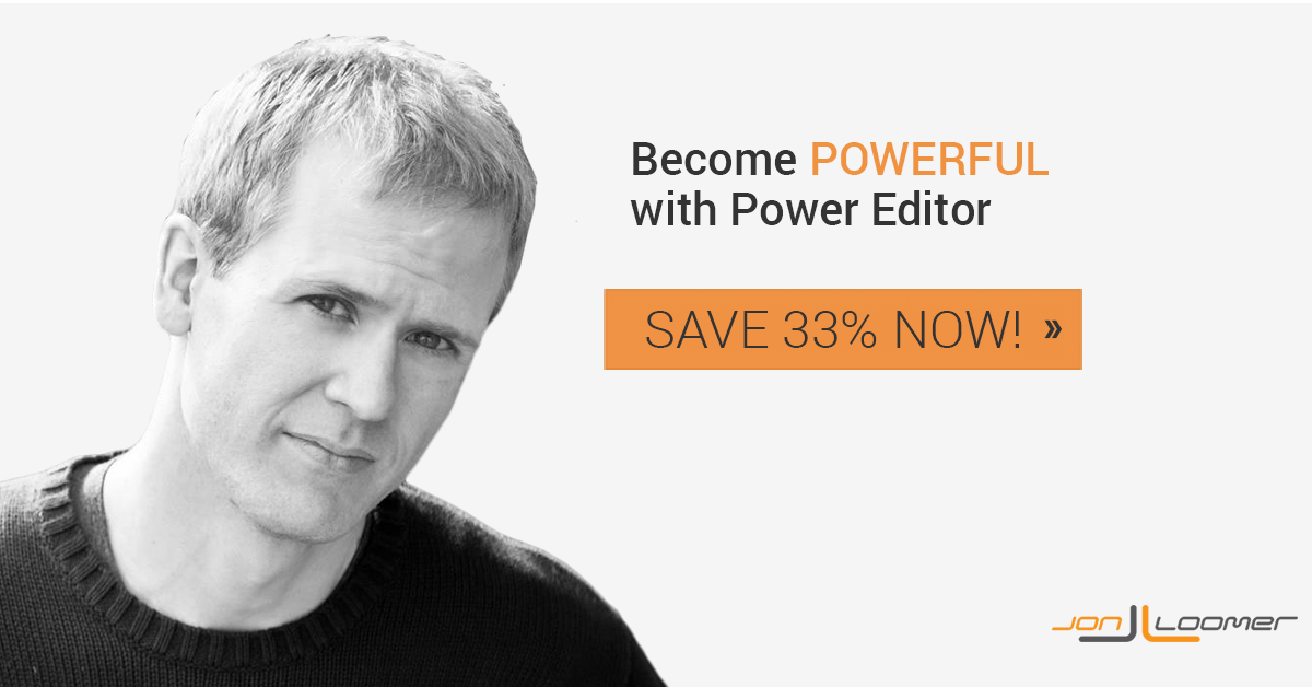 jon loomer power editor course save Power Editor Training Course