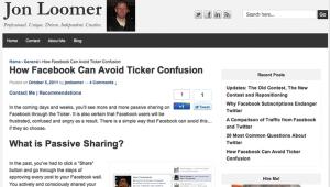 Jon Loomer Site 2011