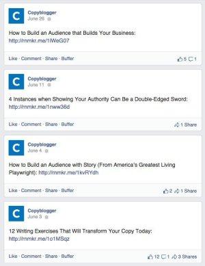 Copyblogger Facebook
