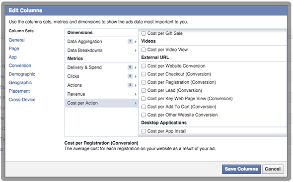 Facebook Ad Reports Conversion Cost Per