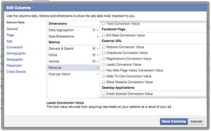 Facebook Ad Reports Conversion Revenue