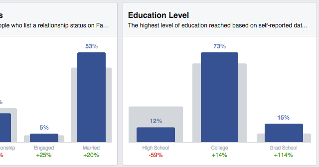 Facebook Audience Insights Education