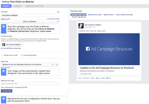 Facebook Power Editor New Ad