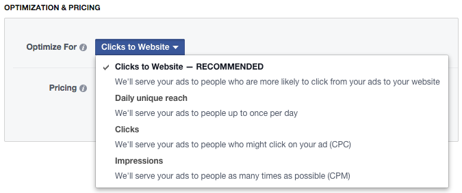 Facebook Power Editor New Ad Optimization Pricing Optimize