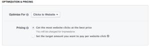 Facebook Power Editor New Ad Set Optimization & Pricing