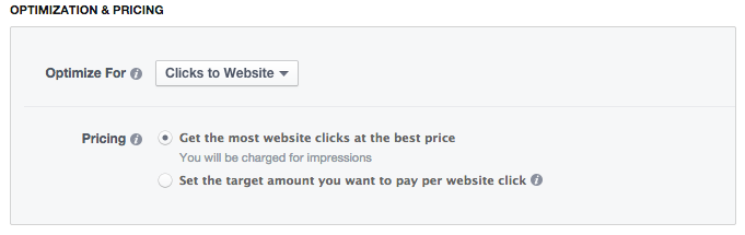 Facebook Power Editor New Ad Set Optimization & Pricing