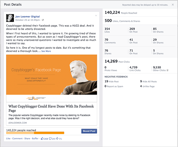Facebook Website Clicks Copyblogger Post