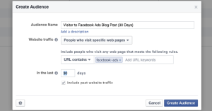Facebook Website Custom Audience Category