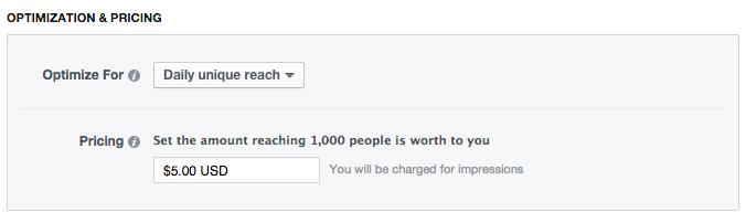 Facebook Daily Unique Reach