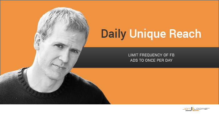 Daily Unique Reach: Limit Frequency of Facebook Ads to Once Per Day