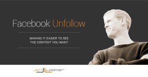 Facebook Unfollow