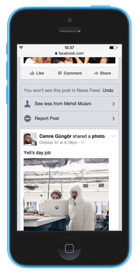 Facebook News Feed Controls