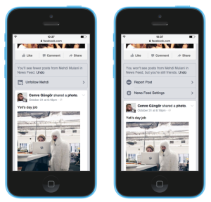 Facebook News Feed Controls