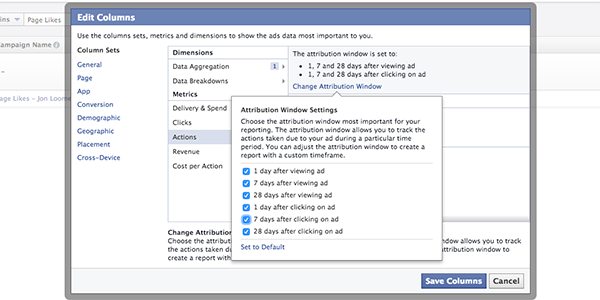 Facebook Ad Reports Change Attribution Window