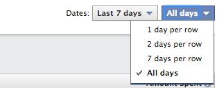 Facebook Ad Reports Dates