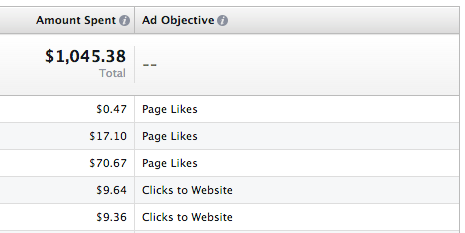 Facebook Ad Reports Objective