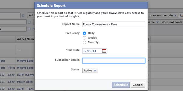 Facebook Ad Reports Schedule