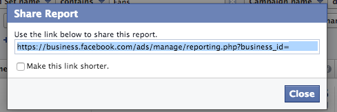 Facebook Ad Reports Share