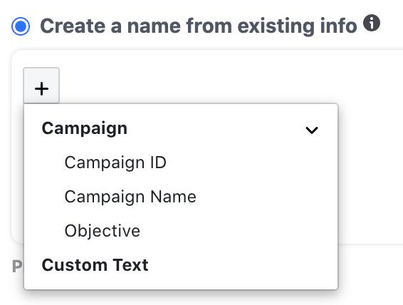 Facebook Name Template