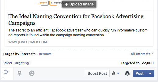 Facebook Organic Post Interest Targeting