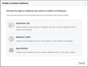 Create Custom Audience Website Traffic