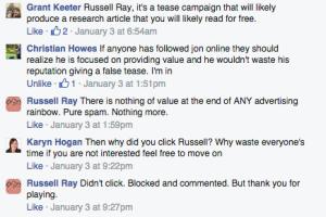 Facebook Ads Experiment Response
