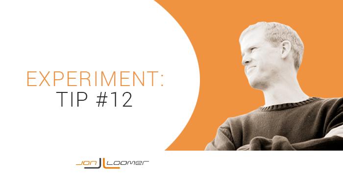 Facebook Ads Experiment Tip 12