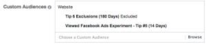 Facebook Ads Experiment Tip 6 Targeting