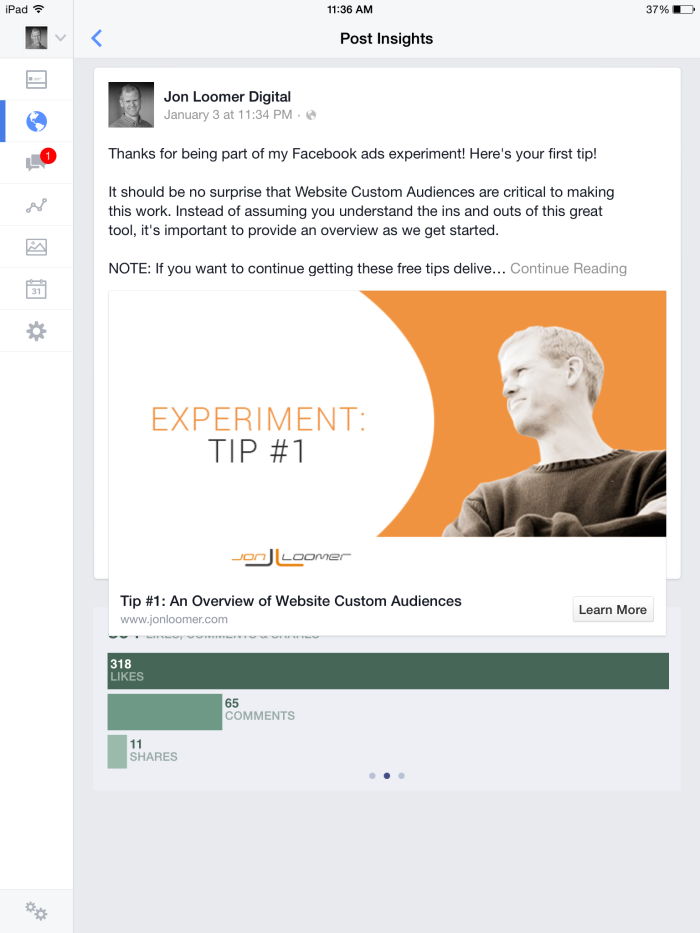 Facebook Ads Organic Distribution