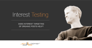 Facebook Interest Targeting Organic Post Test