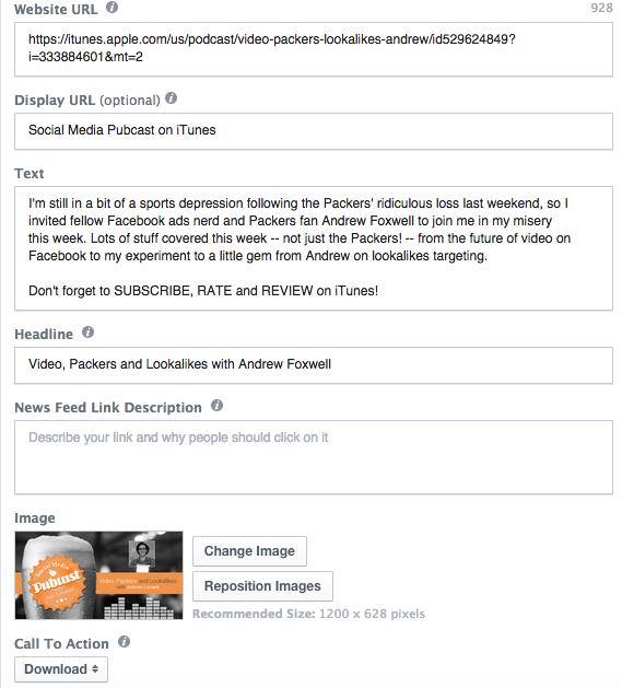 Promote Podcast Facebook Ads