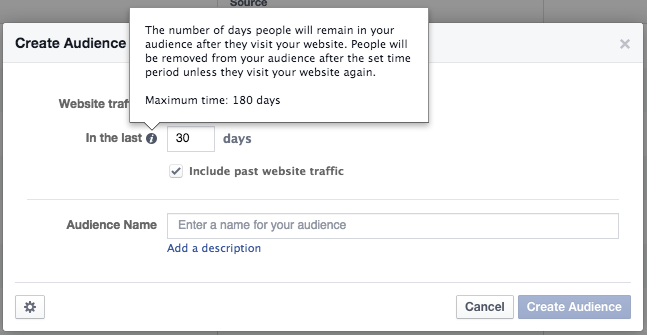 Website Custom Audience Duration