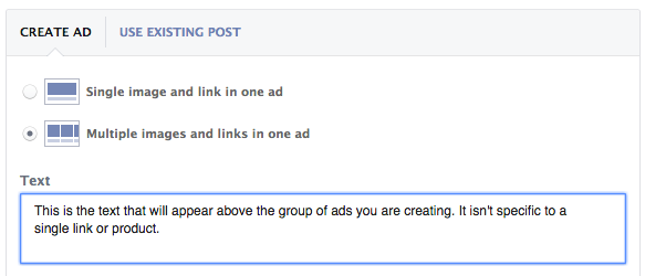 Create Facebook Multi-Product Ad