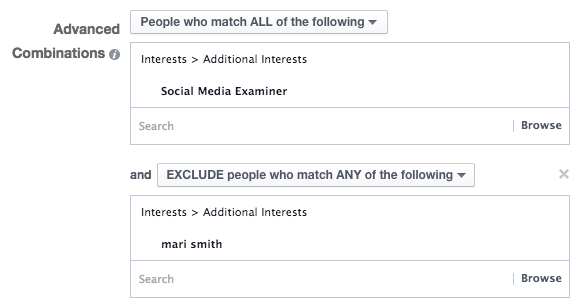 Facebook Ad Targeting Interest Exclusion