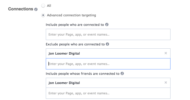 Facebook Ad Targeting Friends of Fans