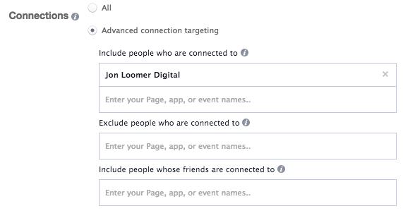 Facebook Ads Target Fans