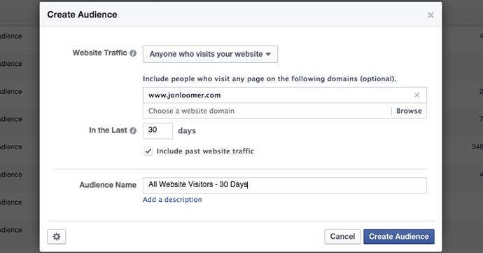 Facebook WCA All Visitors